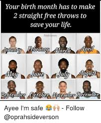 Make Memes Free - your birth month has to make 2 straight free throws to save your