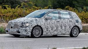 mercedes city car redesigned mercedes b class spied in