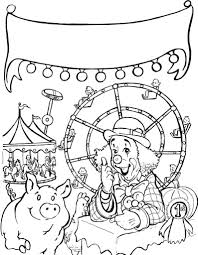 terrific circus coloring pages for kids with carnival carnival