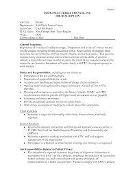 Nanny Job Description Resume by Barista Job Description Resume Free Resume Example And Writing