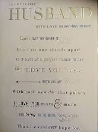words for anniversary cards husband anniversary card words ebay