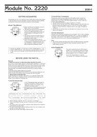 user manual for casio watch module 2220 owner u0027s guide u0026 instructions