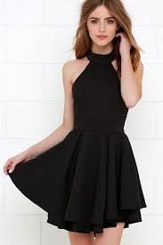 black dress halter black dress simple mini dress mb 12 ms black