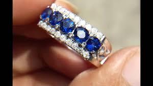 model cincin blue safir 740 cincin wanita blue safir srilanka dan berlian putih eropa ring