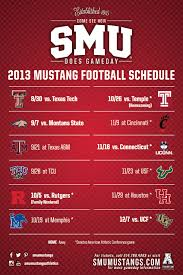 mustang football schedule smu 2013 football schedule magnet our work rice