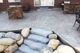 Stamped Concrete Patio Design Ideas by Stone Texture Stamped Concrete Patio Ideas Cost For Stamped