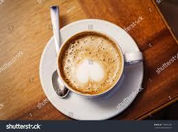 cup cofee top heart on foam stock photo 176841320 shutterstock