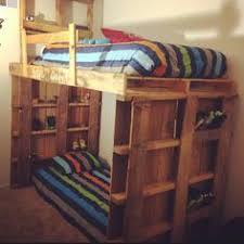 Make Wooden Bunk Beds by How To Make Pallet Bunk Bed Google Search Bunkbeds Pinterest