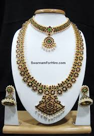 bridal set for rent swarnam rent south indian temple jewelry set