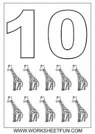 1 10 number coloring sheets math math
