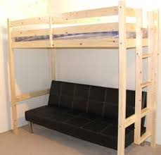 liberty futon bunk bed frame unfinished solid wood futon bunk