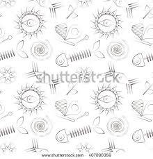 set astronomy sketches sun moon sun stock vector 175180325