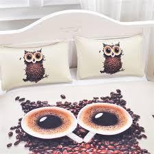 bedding sets duvet cover soft unique design queen size owl quilt