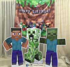 minecraft backdrop rental diy izsypizsy