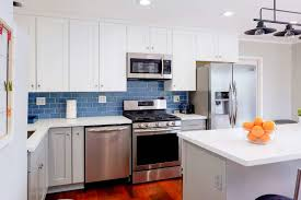 blue kitchen backsplash 3 blue kitchen backsplashes you ll cabinet city kitchen and bath