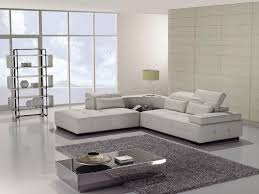 Furniture Design Small White Color Modern Leather Sectional Sofa - Small modern sofa