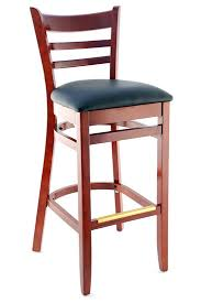 Masters Bar Table Premium Ladder Back Wood Bar Stool Seating Masters Restaurant