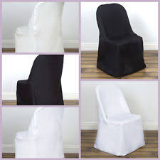 White Banquet Chair Covers White Chair Covers Venue Decorations Ebay