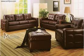 Livingroom Sets by Leather Livingroom Sets In Marvellous Design Brown Leather Living