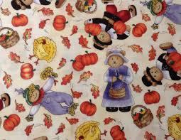 teddy pilgrim thanksgiving fabric timeless treasures