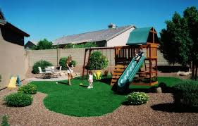 Backyard Play Area Ideas by Small Backyard Landscaping Ideas For Kids With Playground