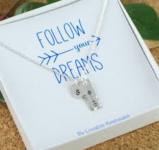 graduation jewelry gift follow your dreams necklace graduation gift graduation necklace