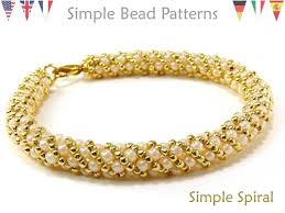 simple beaded bracelet images Russian spiral stitch beading pattern jewelry making etsy jpg
