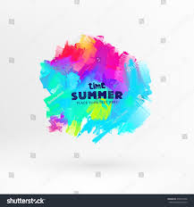 bright color paint stains summer design stock vector 276973346