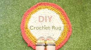 Crochet A Rag Rug How To Crochet Make A Fabric Rag Rug Diy Tutorial Youtube