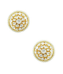 earrings online india orniza marvellous uneven kundan big top earrings buy orniza