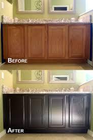 dark brown kitchen cabinets with black appliances exitallergy com