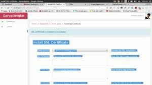 Ssl Certificates Title Easiest Ssl Installation Using Serveravatar For Free Youtube
