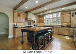kitchen with center island kitchen with island stove kitchen in luxury home with stock