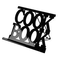 porte livre cuisine premier housewares 0508383 support de livre de cuisine en émail noir
