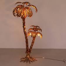 Floor Lamp Tree Branches Huge Gilt Metal Two Trunk Palm Tree Floor Lamp By Hans Kögl Tree