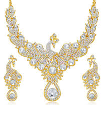 women necklace set images Sukkhi exotic peacock gold plated ad necklace set for women buy jpg