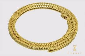 gold cuban necklace images 3 5mm 5mm 14k solid thick miami cuban link yellow gold necklace jpg