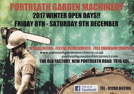 portreath garden machinery open winter days 2017 including