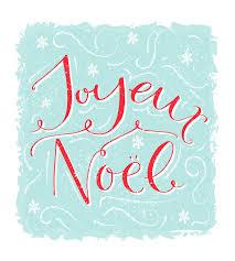joyeux noel saying means merry modern