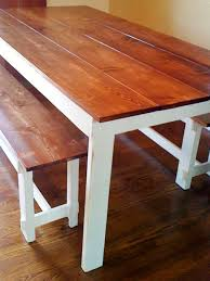 wooden dining room table diy farmhouse benches hgtv