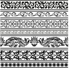 seamless lace ornamental patterns free vector 27 075