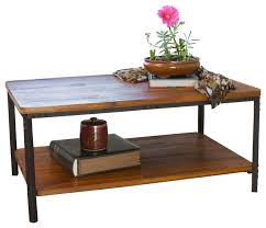 Coffee Tables Rustic Wood Denise Austin Home Chasham Wood Finish Accent Table Rustic