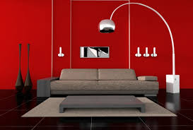 mid century modern arc floor l lighting ideas red painted living room wall with mid century modern