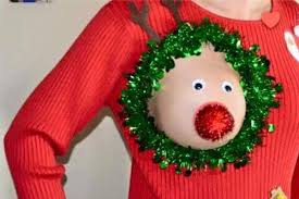 Ugly Christmas Sweater Decorations Breastfeeding Ugly Christmas Sweater Theberry