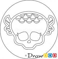draw lagoona logo monster
