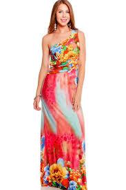 the best online store red floral print design side slit long maxi