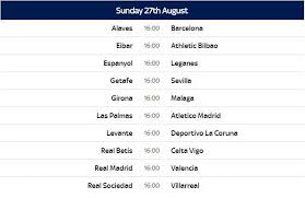 Segunda Division Table Spanish La Liga 2017 18 Schedule Released Date U0026 Teams List