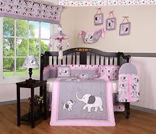 Purple Elephant Crib Bedding Nursery Bedding Sets Ebay
