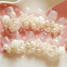 aliexpress com buy yaosh 3d white nail pearl glitter mix size