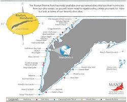 map of roatan honduras dive dive map of roatan honduras